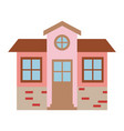 light color silhouette of facade house of two vector image vector image