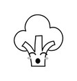 line kawaii cute funny broccoli vegetable vector image vector image