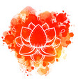lotus inspired ornate composition over colorful vector image