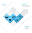 media icons set collection of gif sticker smile vector image vector image