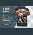 mock-up t-shirts with logo utv buggy off vector image