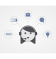 modern support woman with sample icon on vector image vector image