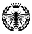monochrome pattern with flying bee and vector image