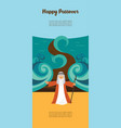 moses splitting the red sea and ordering let my vector image vector image