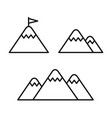 mountain line icon vector image