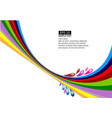 multi-colour line wave on white background vector image