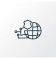 network protection icon line symbol premium vector image