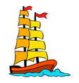 old sailing ship icon icon cartoon vector image