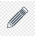 pencil concept linear icon isolated on vector image