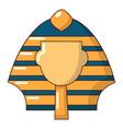 pharaoh icon cartoon style vector image vector image