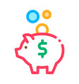 pig money box icon outline vector image