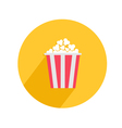 Popcorn Round circle icon in flat design style Big vector image vector image