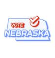 presidential vote in nebraska usa 2020 state map vector image vector image
