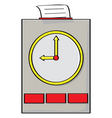 punch clock vector image vector image