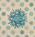 Retro Christmas greeting card with snowflakes vector image vector image