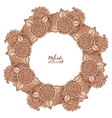 Round tribal frame in mehndi style vector image vector image