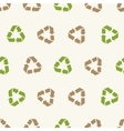 seamless recycling sign pattern vector image vector image