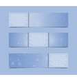 Set Horizontal Blue Banners New Year Christmas vector image vector image