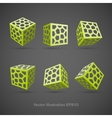 Set of abstract cubes vector image vector image