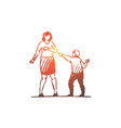 son mother child parent angry scold vector image