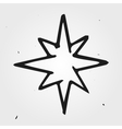 star hand drawn vector image vector image