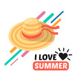 summer women hat and text vector image vector image