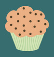 sweet dessert in flat design muffin vector image