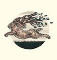twig horned jackalope vector image