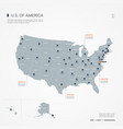 united states of america infographic map vector image