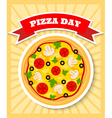 vegetarian pizza day vector image vector image