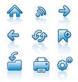 Web navigation icon set vector image vector image