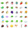 wild animal icons set isometric style vector image vector image