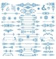 Winter decorDivider bordesChristmasNew Year set vector image