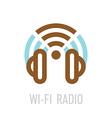 wireless internet radio logo template vector image