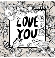 Black and white vintage garden spring greeting vector image