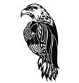 Detailed Decorative Hand Drawn Eagle vector image