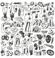rap doodles vector image