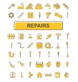 The icons on the theme of repair vector image