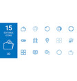 15 3d icons vector image vector image