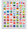 a set of flag buttons vector image vector image