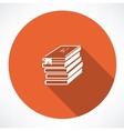 ABC books icon vector image