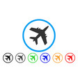 aircraft rounded icon vector image vector image
