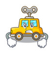 angry cartoon clockwork toy car for gift vector image