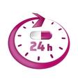 around clock take drugs icon vector image vector image