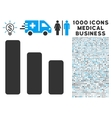 Bar Chart Decrease Icon with 1000 Medical Business vector image vector image