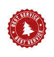 best service grunge stamp seal with fir-tree vector image vector image