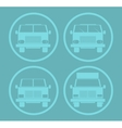Blue Cars Icon Set vector image vector image