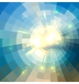 Blue winter sunshine in mosaic glass window vector image vector image