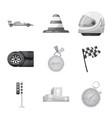 car and rally symbol set vector image