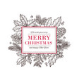 christmas card happy new year background with vector image vector image